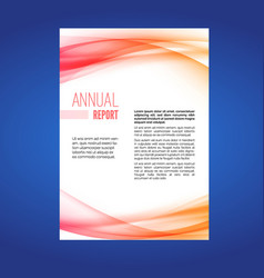Beautiful business annual report swoosh wave vector