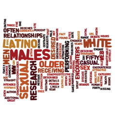 Latino men often attracted to older white males vector