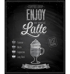 Latte chalk vector