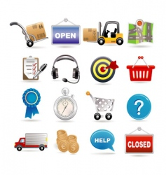 shopping and logistic vector image
