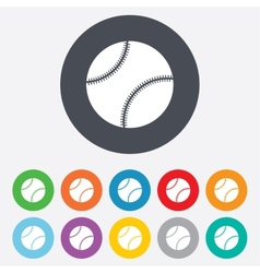 Baseball ball sign icon sport symbol vector