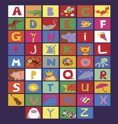 Cute alphabet for kids vector