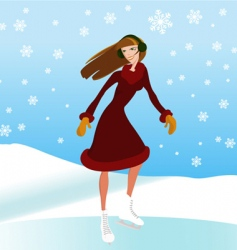 ice skate vector image
