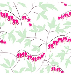 Seamless floral pattern background flowers ornamen vector image