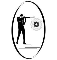 Bullet shooting vector image