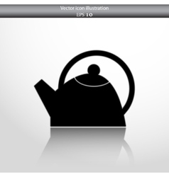 Tea pot web icon vector
