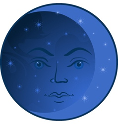 Moon face vector