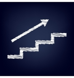 Stair with arrow vector