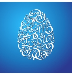 Easter background with shadow vector