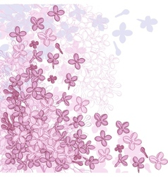 Background for design with flowers of lilac vector