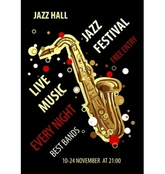Retro styled jazz festival poster abstract style vector