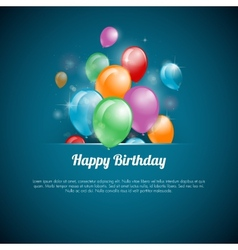 A happy birthday greeting card vector