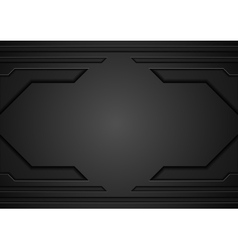 Abstract black technology template design vector