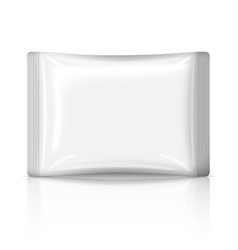 Blank flat plastic sachet isolated on white vector