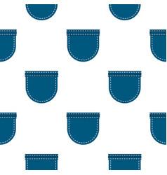 Blue jeans pocket pattern flat vector
