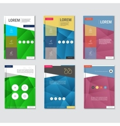 Business brochure design template in a4 size with vector