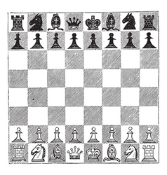Chess vintage engraving vector