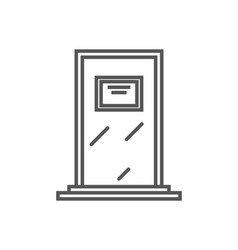 Class door isolated icon in linear style vector