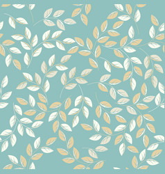 cute endless pattern with stylish leaves vector image
