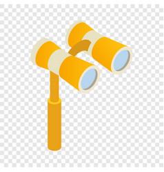 elegant theater binocular isometric icon vector image