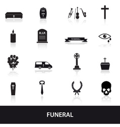 Funeral icons set eps10 vector