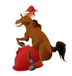Happy new horse vector
