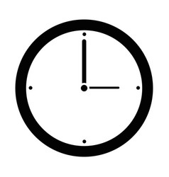 isolated wall clock vector image vector image