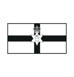 Northern ireland flag monochrome on white vector