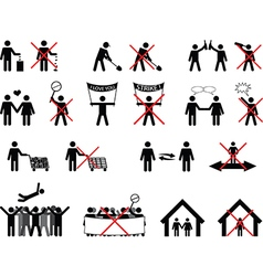 Pictogram people doing the right thing vector image