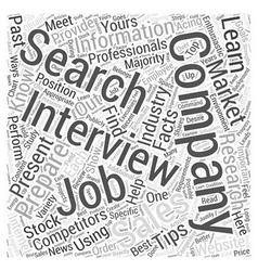 sales job search tips dlvy nicheblowercom Word vector image vector image