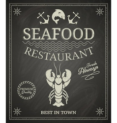 Seafood restaurant poster vector image