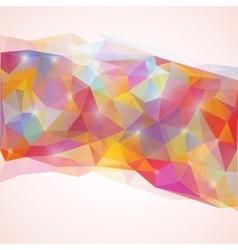 Shining triangles poligonal vector image vector image