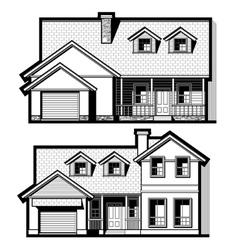 single family house set vector image