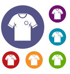 soccer shirt icons set vector image vector image