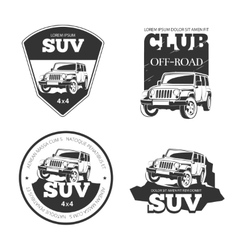 Suv car emblems labels and logos vector image vector image