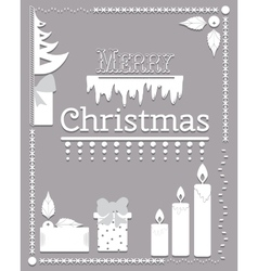 Typographic christmas text and design element vector