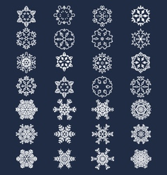white snowflakes 28 vector image vector image