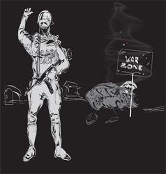 Zone of War vector image vector image