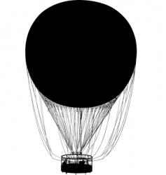 silhouette of air balloon vector image