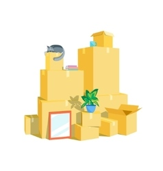 Cardboard boxes set vector