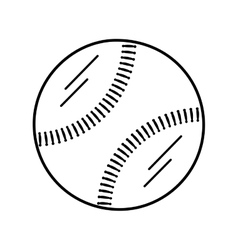 Baseball ball equipment isolated icon vector