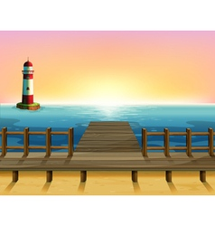 A tall parola and the wooden bridge vector image