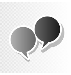 Speech bubble sign  new year blackish icon vector