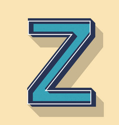 Letter z retro text style fonts concept vector