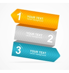 Colorful text box 123 concept vector