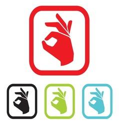 ruka zacin c pojednostavljena vector image