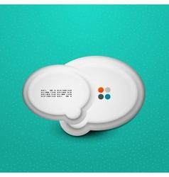 3d white speech bubble modern template vector image vector image