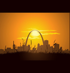 St louis sunset vector