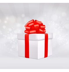 Christmas background with gift box vector