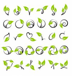 leaves design elements vector image